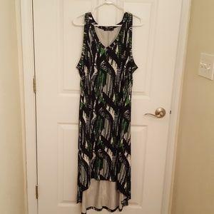 ca11ad45ba ... High low sleeveless v- neck dress ...